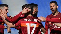 Serie A, la Roma domina l'Udinese e supera la Juventus