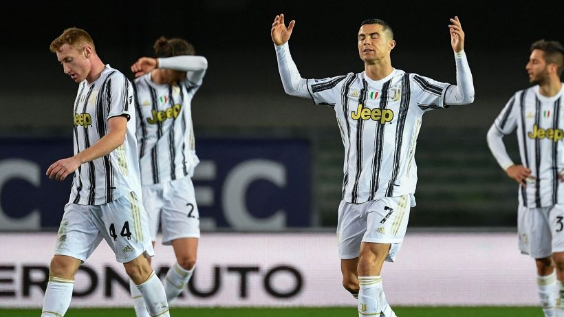 Non basta Cristiano Ronaldo, la Juventus frena anche a Verona