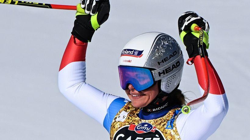 Cortina: in discesa trionfa Corinne Suter