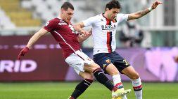Torino-Genoa 0-0: granata con la pareggite, ottimo punto per il 'Grifone'