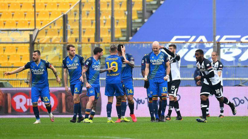 L'Udinese gela il Parma: dal 2-0 al 2-2 al Tardini