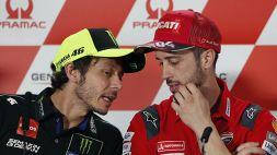 MotoGp, Dovizioso svela un retroscena con Valentino Rossi
