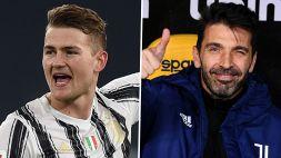 "De Ligt: ""Buffon potrebbe essere mio padre"""