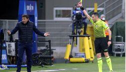 Inter-Atalanta: la lite con Mariani costata l'ammonizione a Conte