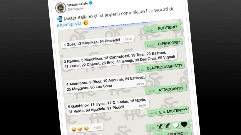 Serie A, Juventus-Spezia: i convocati di Italiano