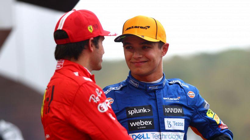 Gp Russia: pioggia beffa Norris, vince Hamilton su Max. Podio Sainz