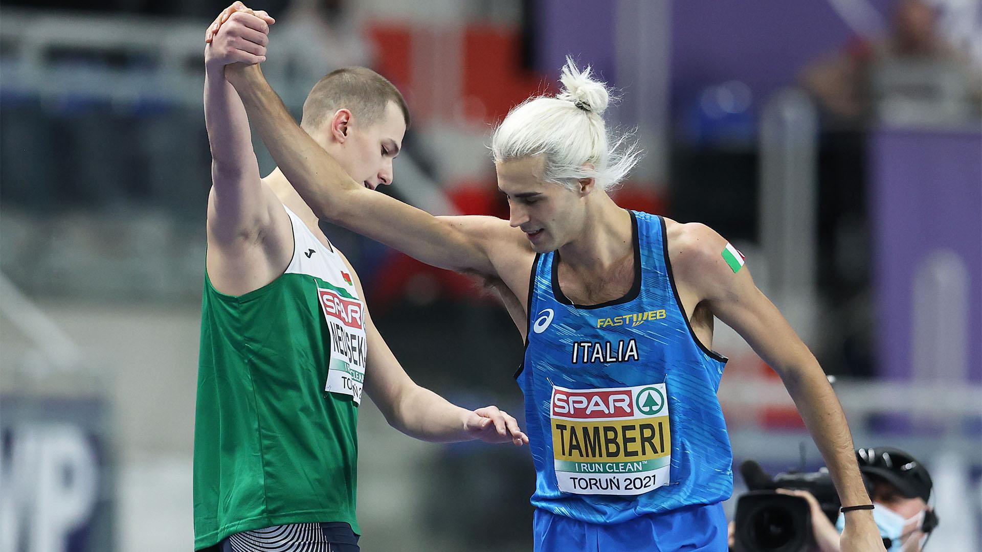 Euroindoor, Gianmarco Tamberi vince l'argento nel salto in alto