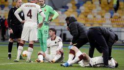 Europa League, lo scontro di gioco Kumbulla-Ibanez