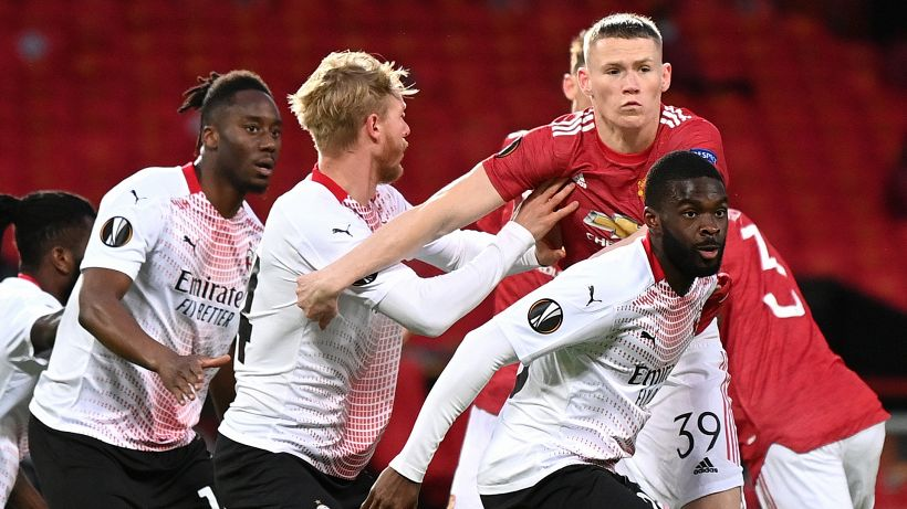 Manchester United-Milan 1-1: Kjaer in extremis, pari essenziale per Pioli