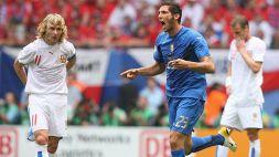 Juventus, Marco Materazzi provoca Pavel Nedved sui social