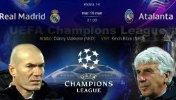 Champions, Real Madrid-Atalanta: dove vederla in tv in chiaro