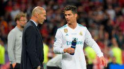 """Zidane: """"Su CR7 si dicono tante cose, ma è della Juventus"""""""