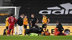 Wolverhampton, botta in testa per Rui Patricio: portato fuori in barella