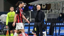 """Pioli ritrova Ibrahimovic per lo United: """"Sarà convocato"""""""