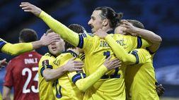 Ibrahimovic, ritorno da applausi: assist in Svezia-Georgia
