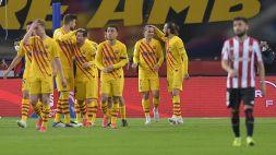 Finale Copa del Rey, il Barcellona umilia l'Athletic Bilbao