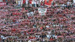 Minacce al Bari: striscione e testa di maiale mozzata fuori dallo stadio