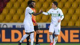 Benevento-Sassuolo 0-1: autorete di Barba, neroverdi ottavi