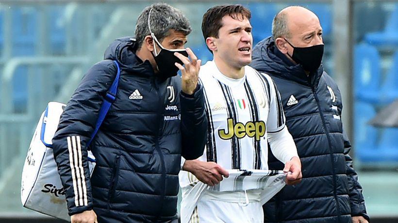 Atalanta-Juventus, infortunio per Chiesa costretto a uscire