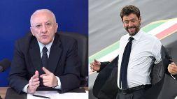 Super Lega e Juve, De Luca: la nuova bordata su Agnelli è virale
