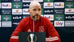 Europa League, Roma-Ajax: la convinzione di Erik Ten Hag