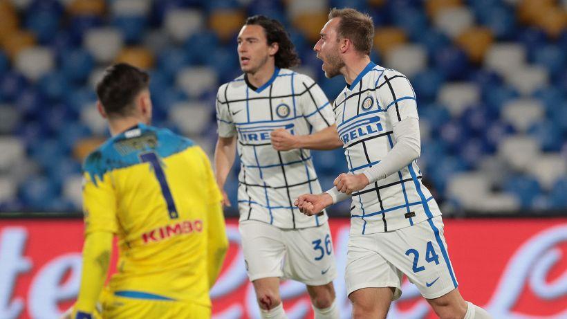 Inter, Handanovic disfa e Eriksen rimedia: 1-1 a Napoli