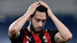 Moviola Lazio-Milan: contatto su Calhanoglu ma Orsato convalida il gol di Correa