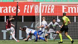 Milan-Sampdoria 1-1: Hauge salva il Diavolo. Le pagelle