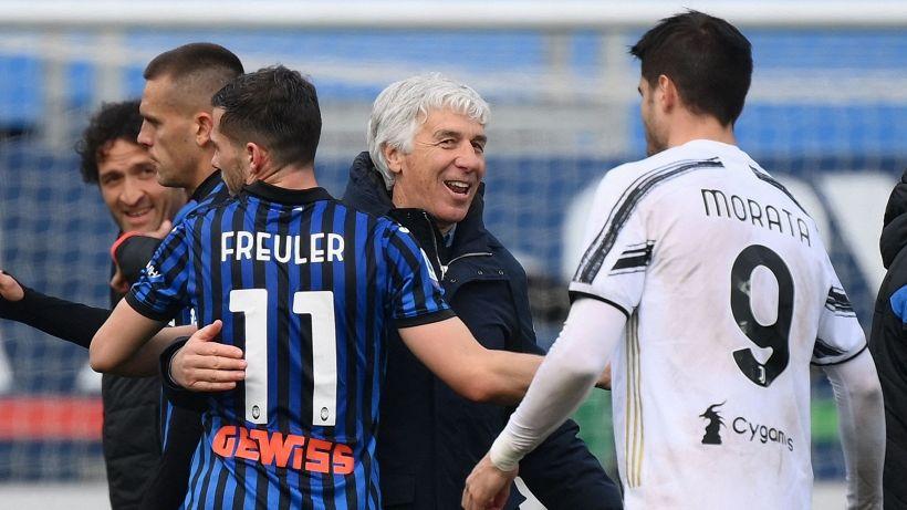 Juve, Champions a rischio: l'Atalanta vince e la sorpassa. Cinquina Lazio