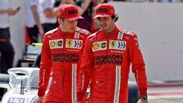 F1, Ferrari: Carlos Sainz alimenta la rivalità con Charles Leclerc
