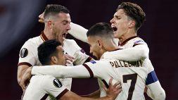 Roma tutto cuore: a un passo dal tracollo rimonta e batte l'Ajax