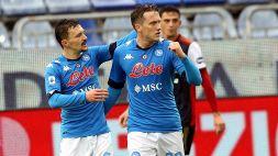 Napoli, sospiro di sollievo per Zielinski: tampone negativo