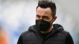 Serie A, Inter-Sassuolo: i convocati di Roberto De Zerbi