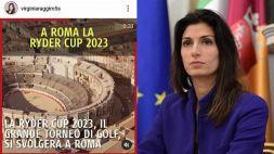 Ryder Cup a Roma: gaffe sul Colosseo è virale, Raggi nel mirino