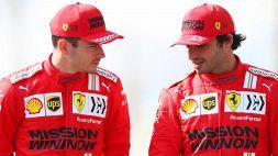 F1, Ferrari: Leclerc e Sainz prudenti. Red Bull attacca Hamilton