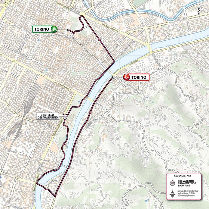 Cartina Italia Riccione.Tappa 1 Torino Torino Cronometro Giro D Italia 2021 Tutte Le Tappe Altimetrie E Percorsi Mappe Virgilio Sport