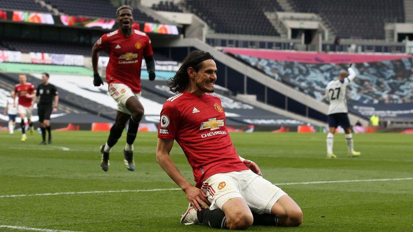 Cavani e lo United allontanano il Tottenham di Mourinho dalla zona Champions