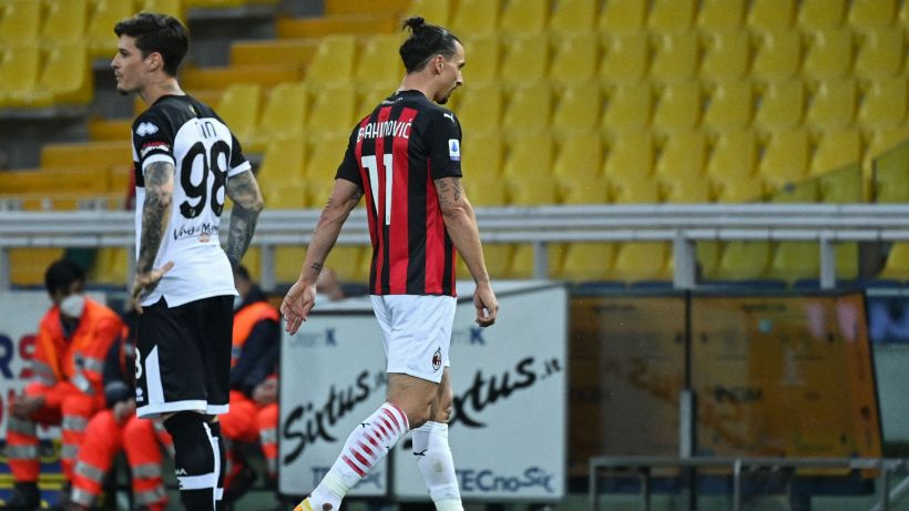 Parma-Milan, Ibrahimovic espulso per proteste
