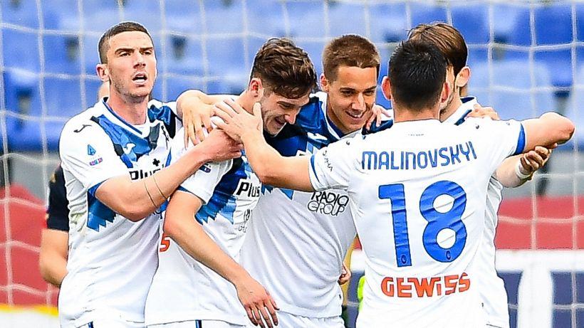 L'Atalanta vola in Champions League, poker al Genoa