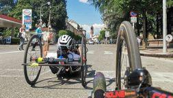 Incidente in handbike, migliora Fittipaldi del team Zanardi