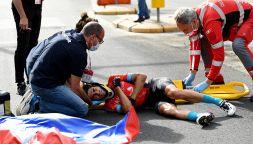 Giro d'Italia: brutta caduta per Landa, uno dei favoriti
