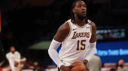 Lakers, Harrel si sfoga sui social per la panchina