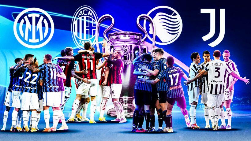 Champions League 2021/22, le fasce del sorteggio: Inter testa di serie, Juve in 2ª, Atalanta in 3ª, Milan in 4ª