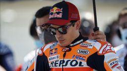 Test Jerez, Marquez si arrende al dolore