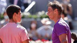 Tennis, nulla da fare per Alcaraz: Nadal lo spazza via