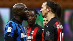 Inter-Milan non finisce, Lukaku provoca Ibrahimovic sui social