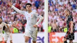 Euro 2020, Morata si prende la Spagna: Croazia eliminata