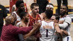 Suns, notte da sogno: sweep ai Nuggets, Jokic espulso