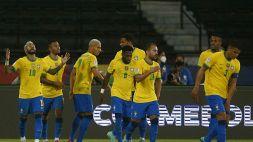 Copa America: Brasile sul velluto, frenata Colombia