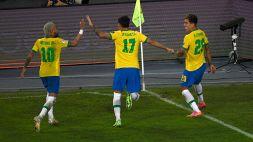 Copa America, Brasile-Colombia 2-1: Casemiro al 100', Seleção a punteggio pieno